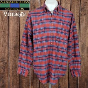 Rare Vintage Like New Plaid Heavy Cotton